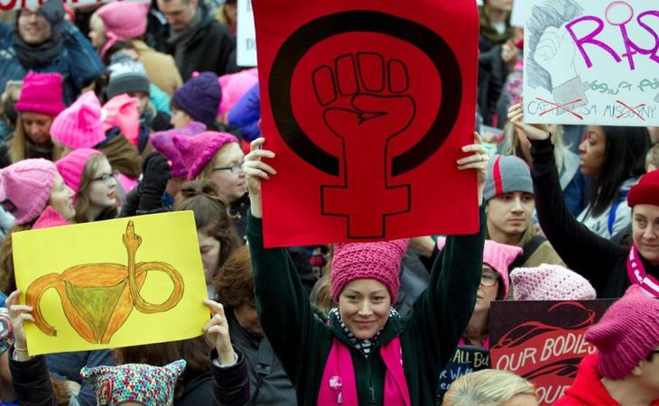 La Marcha de las Mujeres reivindicó el feminismo y los derechos de las mujeres