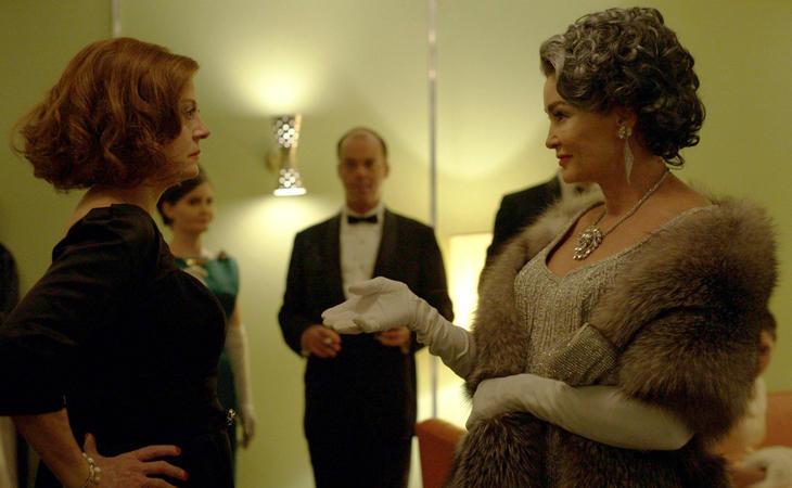 Susan Sarandon yJessica Langecomo Bette Davis y Joan Crawford en 'Feud'