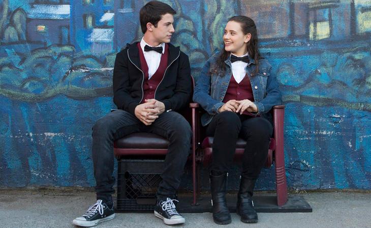 Dylan Minnette y Katherine Langford como Clay y Hannah en 'Por trece razones'