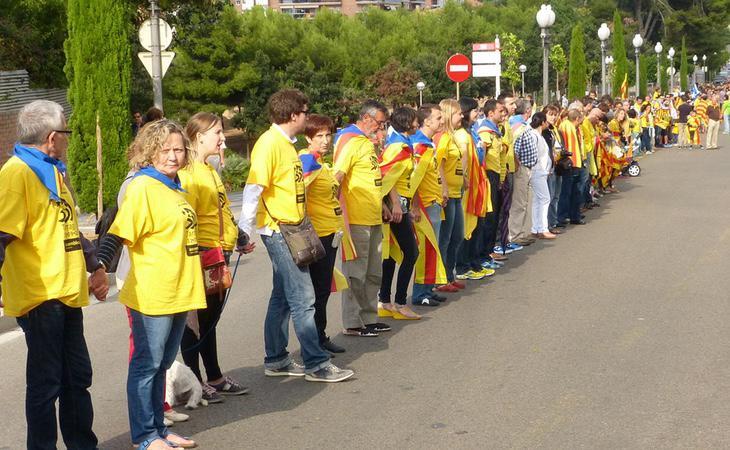 La vía catalana supuso uno de los grandes hitos de la ANC