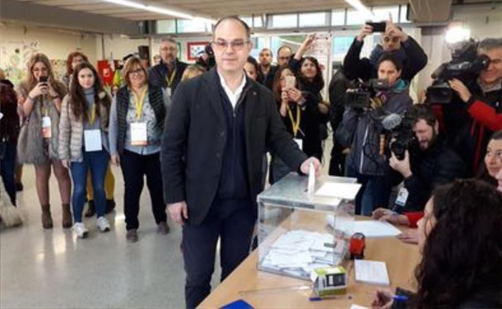 Jordi Turull (JxCat), al depositar su voto en la urna: