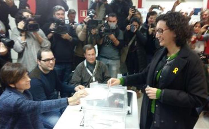 Marta Rovira (ERC), tras votar: