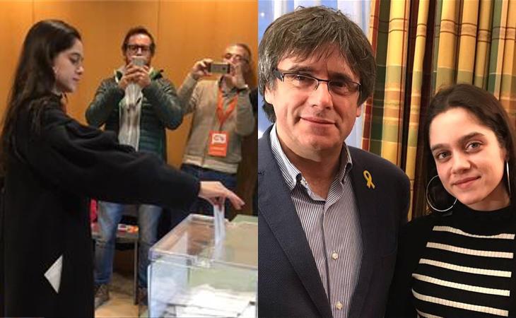La joven que cedió su voto a Puigdemont ya ha votado