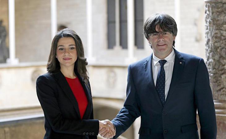 Empate entre Ciudadanos y Junts per Catalunya a 34 escaños con el 41% de los votos escrutados