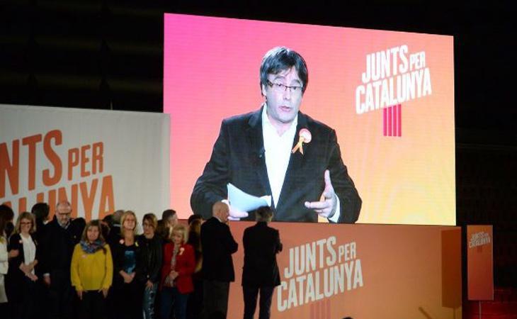 Puigdemont ya ha realizado varios discursos a través de videoconferencia