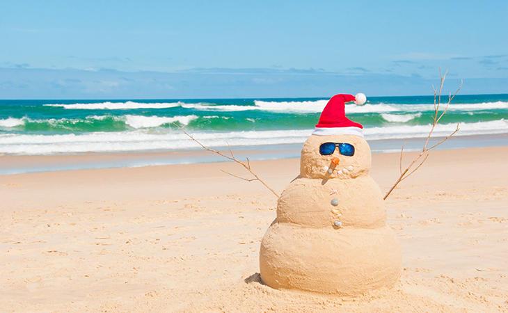 La Navidad en Australia es la mejor época para coger moreno