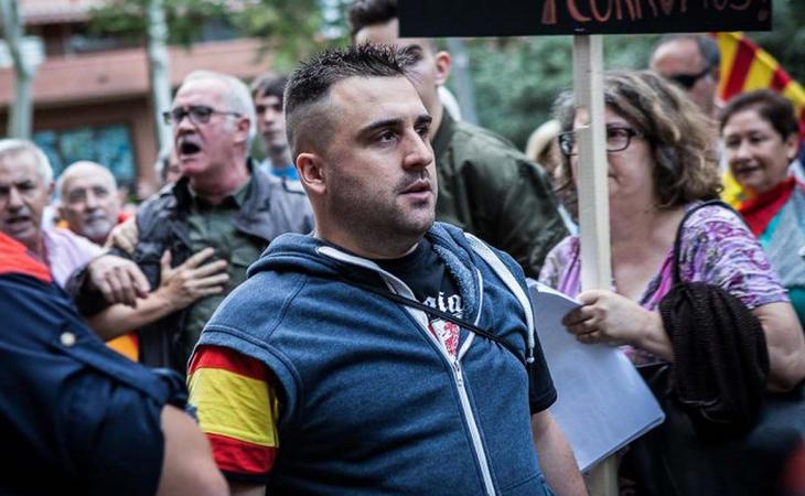 Juan Marín, en una manifestación convocada por Democracia Nacional (Público)