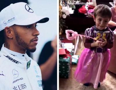 """Hamilton muestra su cara más homófoba en Instagram: """"Los niños no se visten de princesas"""""""