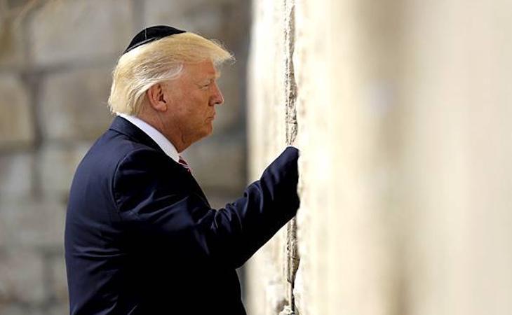 La visita de Trump al muro de las lamentaciones generó amplia expectación