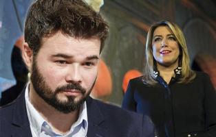 Gabriel Rufián despierta la polémica con su tuit a Susana Díaz y enfada a los andaluces