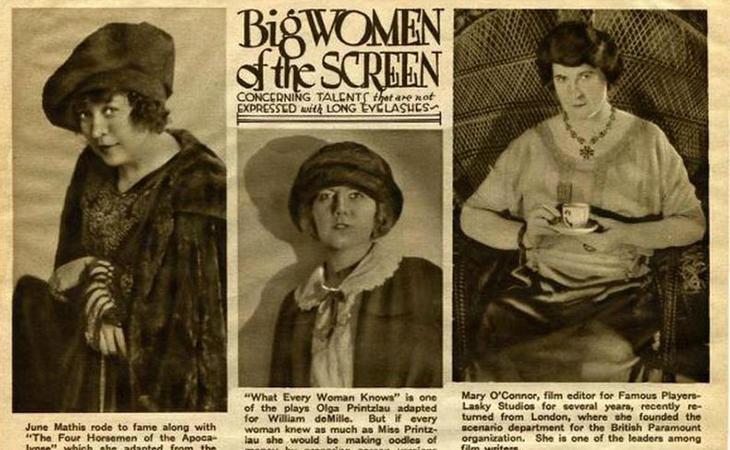Las mujeres eran las grandes estrellas de Hollywood