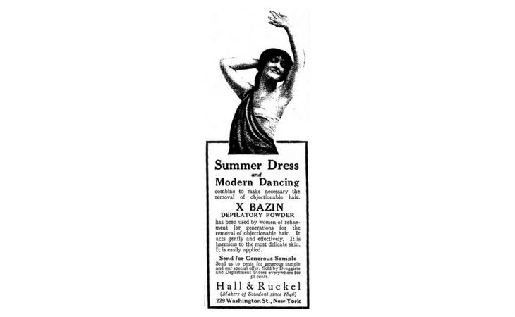 Con este anuncio comenzó la depilación en los sobacos