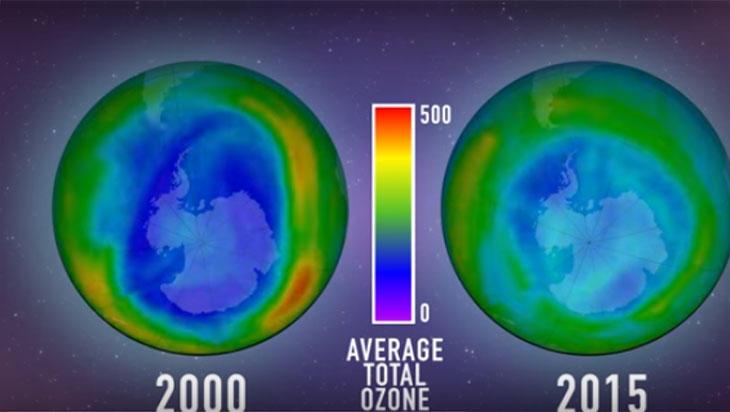El agujero de la capa de ozono va reduciendose año a año