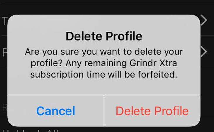 Borrar el perfil no implica que nuestra información desaparezca de los servidores de Grindr