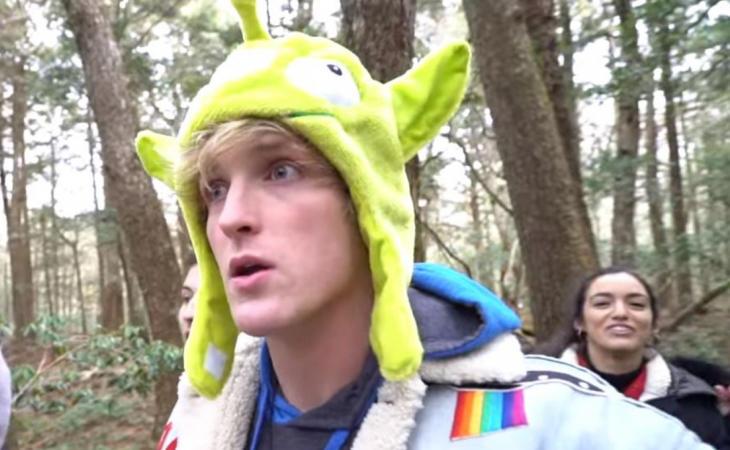 Logan Paul en el vídeo de la polémica
