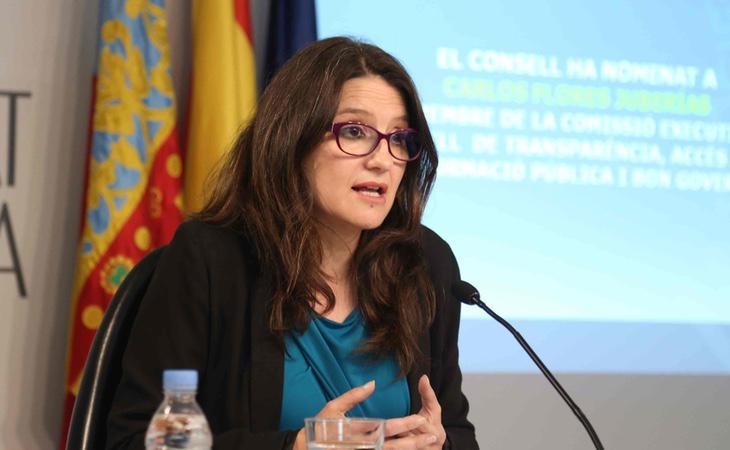 La portavoz del Govern, Mónica Oltra, ha calificado de 'chantaje' la medida