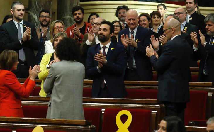 Roger Torrent nuevo presidente del Parlament catalán