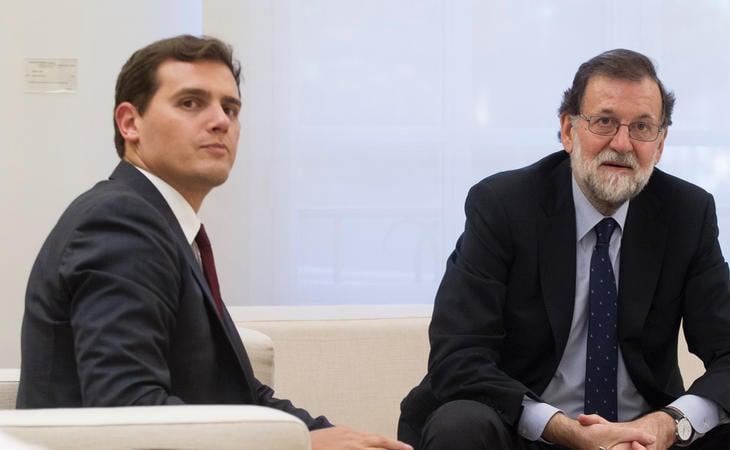 Albert Rivera (Cs) y Mariano Rajoy (PP)