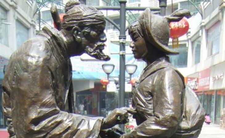 Hua Mulán siendo recibida por su padre después de la guerra