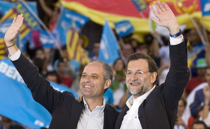 Rajoy dijo a Camps en un mitin en 2009: