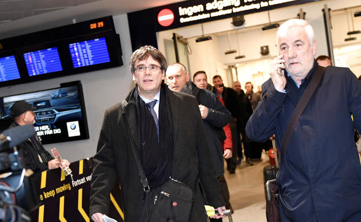 Puigdemont viajó a Copnehague para dar una conferencia