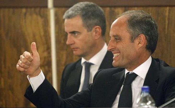 Ricardo Costa (izq) ha sido el último miembro de Gürtel en señalar a Francisco Camps