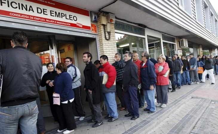 La tasa de paro española duplica la media europea