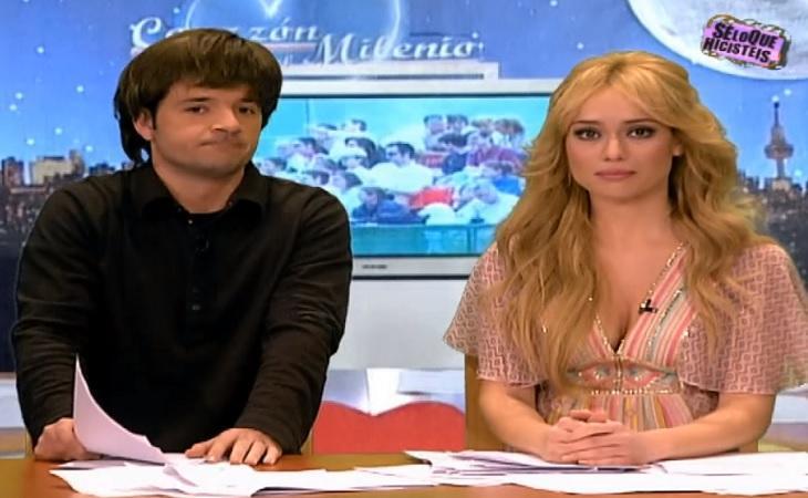 Ángel Martín y Patricia Conde parodiando 'Corazón del milenio'