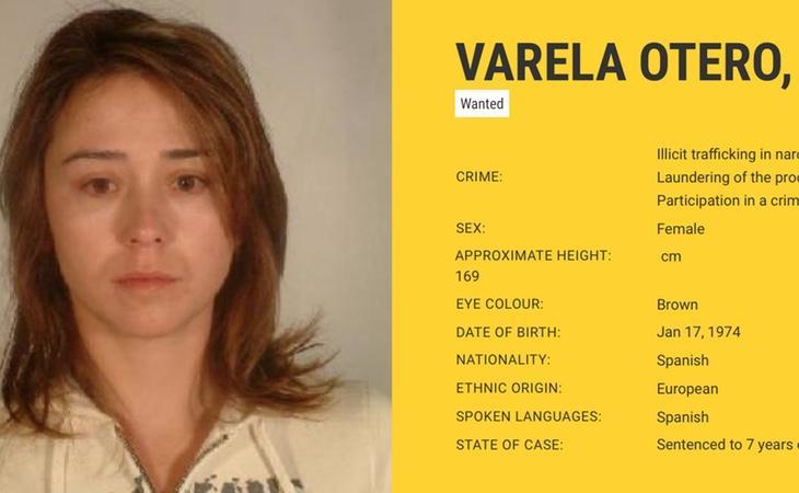La ficha de Tania Varela en la Europol