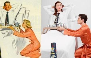 Un fotógrafo libanés invierte los roles de género en los antiguos anuncios machistas
