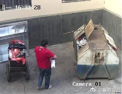 Un hombre tira a su hija al contenedor de basura porque pensaba que estaba enferma