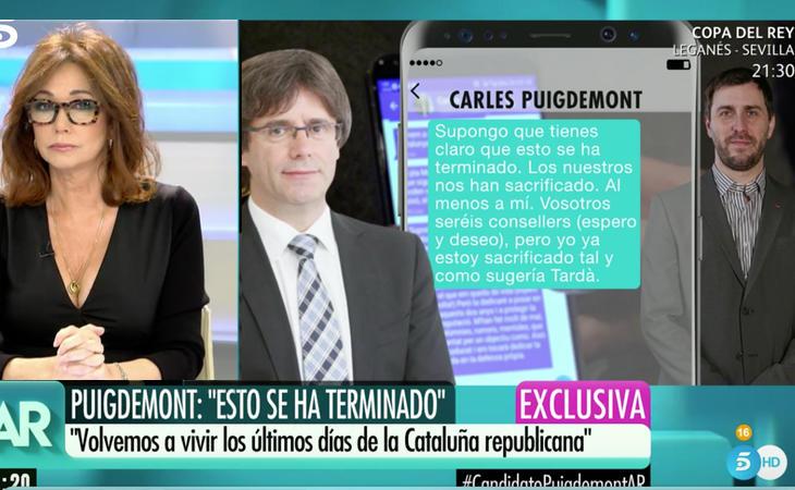Los mensajes que revelan las verdaderas intenciones de Puigdemont