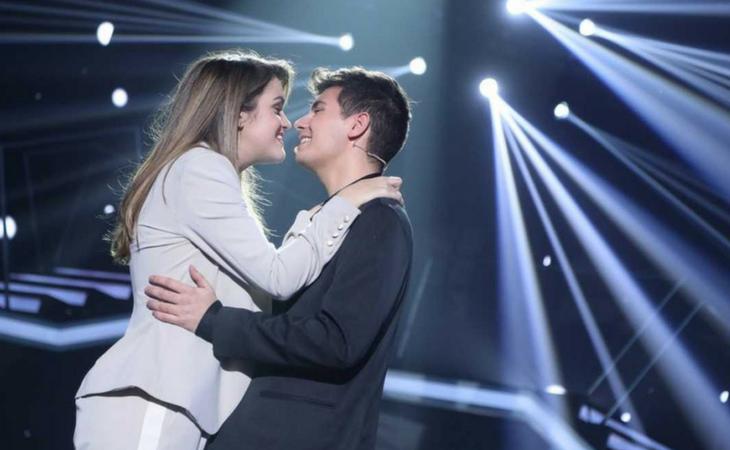 Alfred y Amaia en su actuación en la gala de Eurovisión