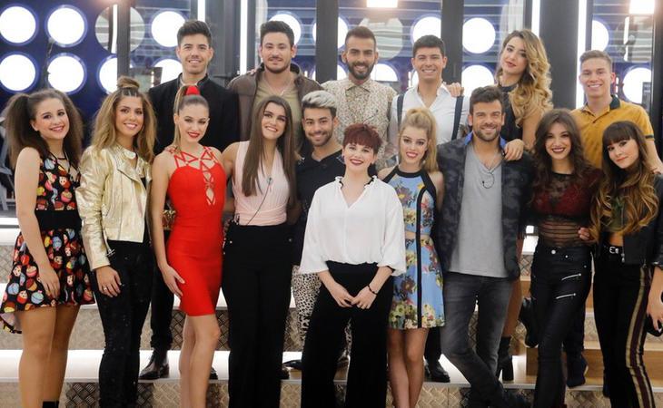 Los dieciséis concursantes de 'OT 2017'