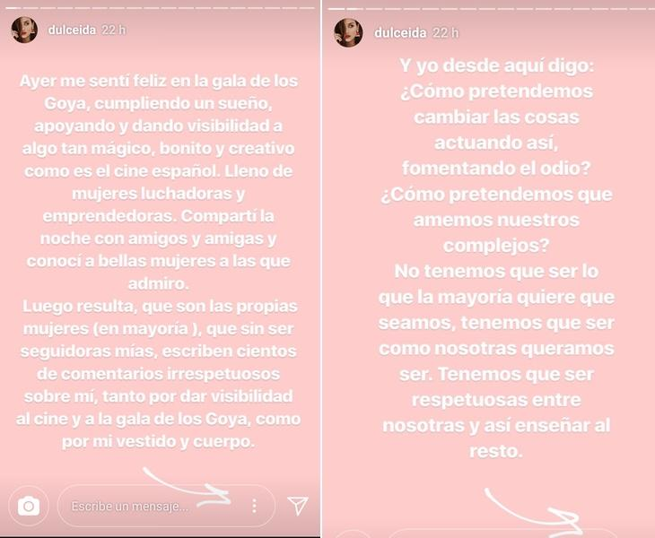 La youtuber se desahogó en su instagram stories