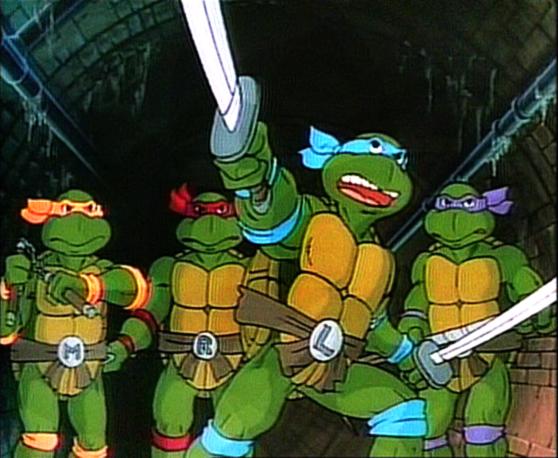 Las primeras 'Tortugas Ninjas' de 1987