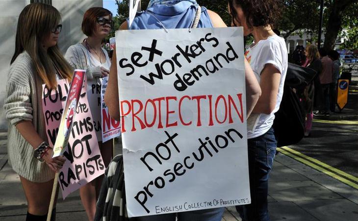 Manifestiación por los derechos de los trabajadores sexuales en UK