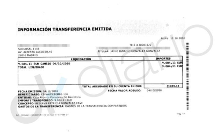Reserva de Patricia González de 9.084 euros para el piso en Valdebebas / Fuente OKDIARIO