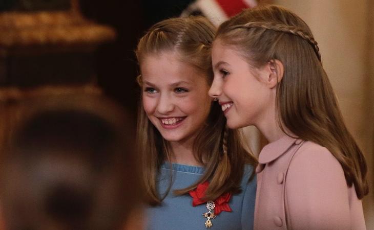 La princesa Leonor estudia sexto de primaria y la infanta Sofía estudia cuarto