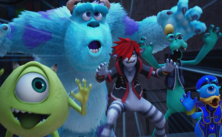 'Monstruos S.A. será un nuevo escenario en 'Kingdom Hearts III'