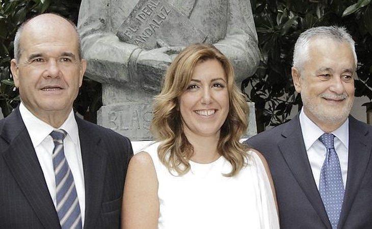 Susana Díaz siempre ha contado con el apoyo de Chaves y Griñán
