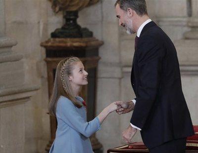 La Princesa Leonor exige reverencias a todos sus compañeros en el colegio, según Peñafiel
