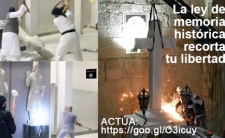 Las polémicas fotos que presiden el manifiesto de Hazte Oír