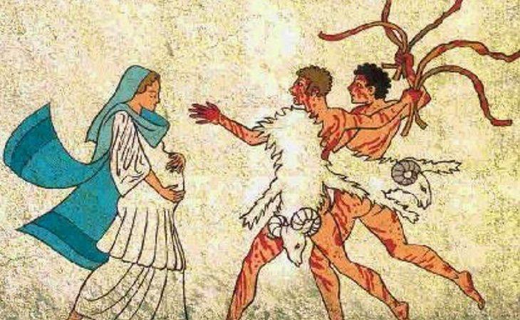 En el ritual de los lupercales los chicos salían a la calle y daban latigazos a las mujeres en edad fértil