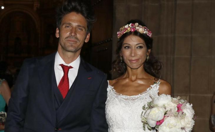 Guille Martín y Lidia en su boda