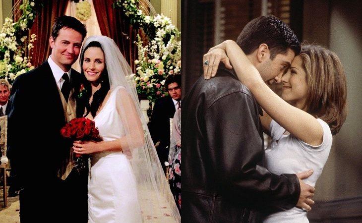 Mónica y Chandler y Ross y Rachel fueron dos historias de amor completamente diferentes en 'Friends'