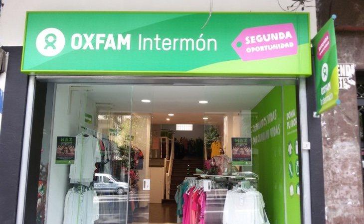 Las tiendas de Oxfam son una de las vías de ingresos de la Organización