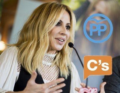 El himno de Marta Sánchez desata la guerra entre C's y PP por quién es más nacionalista