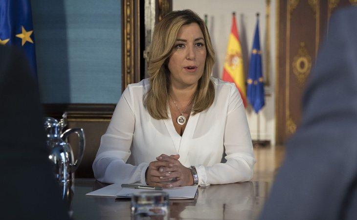 Susana Díaz se ha replegado en la Andalucía tras su derrota ante Pedro Sánchez