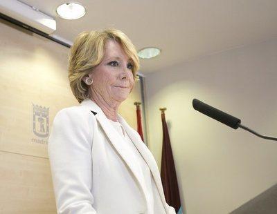 """Esperanza Aguirre no demandará a Granados tras acusarla: """"No tengo dinero"""""""